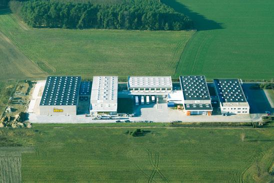 Bau des Logistikcenter Golßen