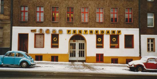 Iden Festbedarf- und Papierwaren-Großhandel in der Hermannstraße um 1979