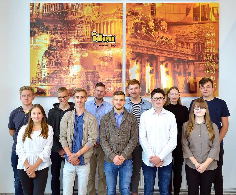 11 neue Azubis bei der Unternehmensgruppe Iden